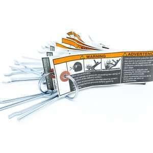 Con Forms- étiquette sécurité épingle - safety pin warning tag